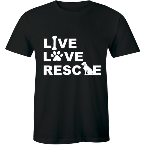 Half It Other - Live Love Rescue Adoption Animal Pet Dog T-shirt